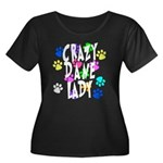 Crazy Dane Lady Women's Plus Size Scoop Neck Dark