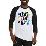Crazy Dane Lady Baseball Jersey