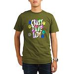 Crazy Dane Lady Organic Men's T-Shirt (dark)