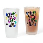 Crazy Dane Lady Drinking Glass