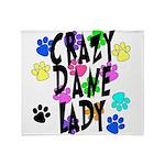 Crazy Dane Lady Throw Blanket