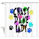Crazy Dane Lady Shower Curtain