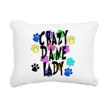 Crazy Dane Lady Rectangular Canvas Pillow