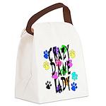 Crazy Dane Lady Canvas Lunch Bag