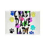 Crazy Dane Lady Rectangle Magnet