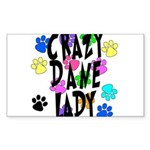 Crazy Dane Lady Sticker (Rectangle)