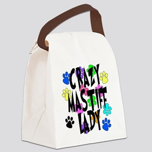Crazy Mastiff Lady Canvas Lunch Bag