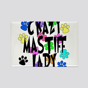 Crazy Mastiff Lady Rectangle Magnet
