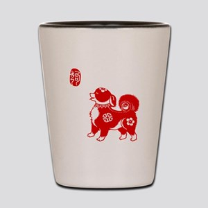 Asian Dog - Shot Glass