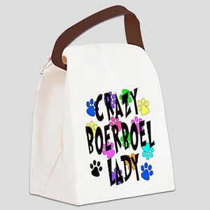 Crazy Boerboel Lady Canvas Lunch Bag