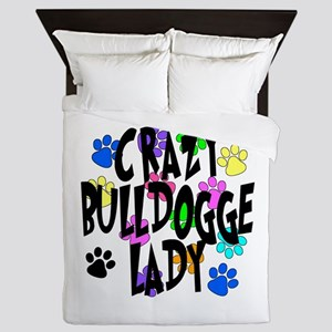 Crazy Bulldogge Lady Queen Duvet