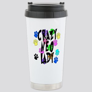 Crazy Neo Lady Stainless Steel Travel Mug