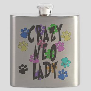 Crazy Neo Lady Flask