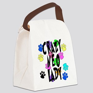 Crazy Neo Lady Canvas Lunch Bag