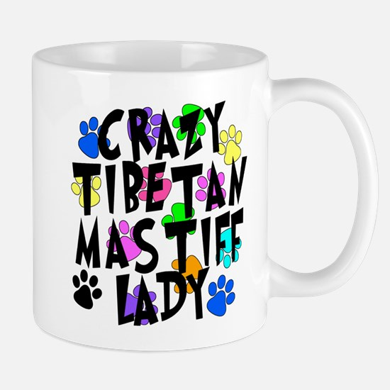 Crazy Tibetan Mastiff Lady Mug