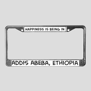 Happiness is Addis Abeba License Plate Frame