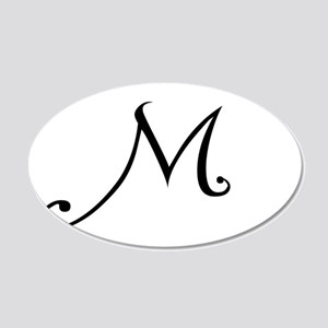 A Yummy Apology Monogram M Wall Decal