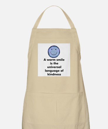 A warm smile is the universal BBQ Apron