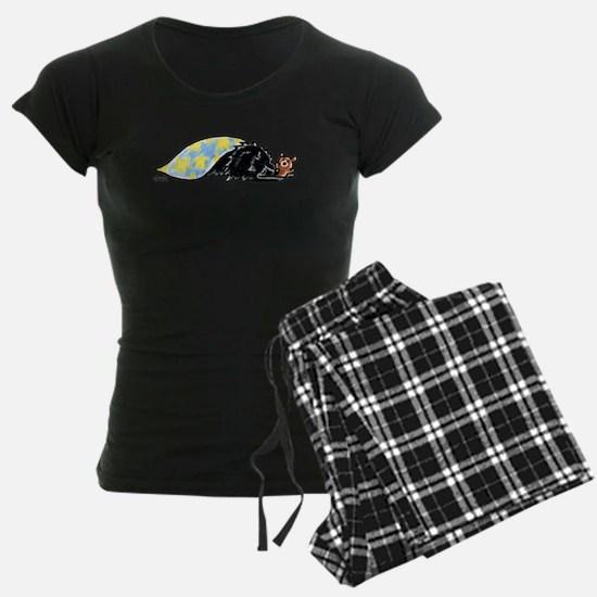 Black Pomeranian Bear Pajamas