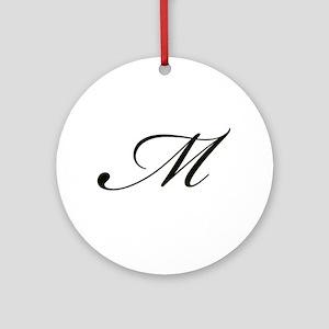 Bickham Script Monogram M Ornament (Round)