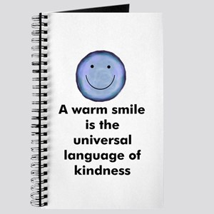 A warm smile is the universal Journal