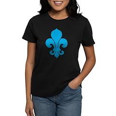 Blue Fleur De Lis Women's Dark T-Shirt
