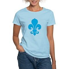 Blue Fleur De Lis Women's Light T-Shirt