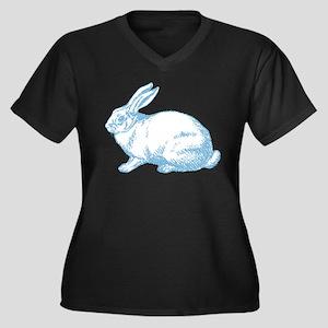 White Rabbit Women's Plus Size V-Neck Dark T-Shirt