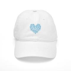 Blue Skull Heart Cap