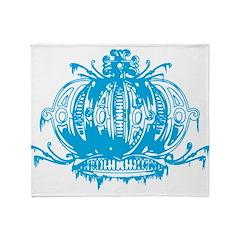 Blue Gothic Crown Throw Blanket