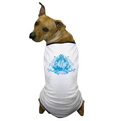 Blue Gothic Crown Dog T-Shirt