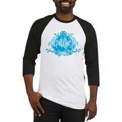 Blue Gothic Crown Baseball Jersey