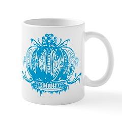 Blue Gothic Crown Mug