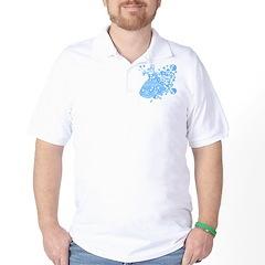 Blue Skull Dancer Golf Shirt