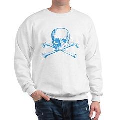 Classic Skull And Crossbones Blue Sweatshirt