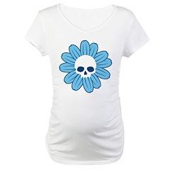 Blue Gothflower Maternity T-Shirt