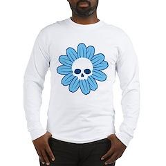 Blue Gothflower Long Sleeve T-Shirt