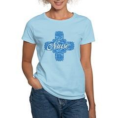 Lacy Blue Nurse Cross Women's Light T-Shirt