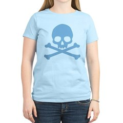 Blue Skull And Crossbones Women's Light T-Shirt