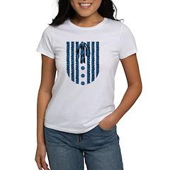 Faux Lace Front Women's T-Shirt