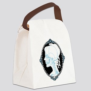 Pretty Skull Cameo Canvas Lunch Bag