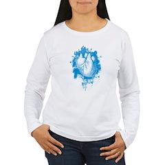 Blue Grungy Heart T-Shirt