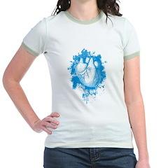 Blue Grungy Heart T