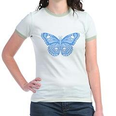 Blue Skull Butterfly T