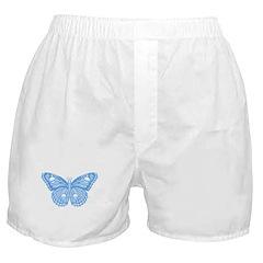 Blue Skull Butterfly Boxer Shorts