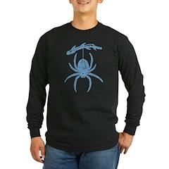 Blue Spider Long Sleeve Dark T-Shirt