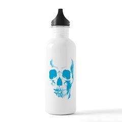 Blue Skull Face Stainless Water Bottle Water Bottle