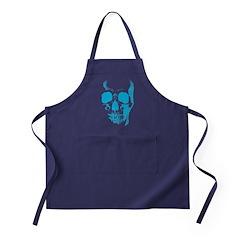 Blue Skull Face Apron (dark)