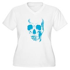 Blue Skull Face T-Shirt