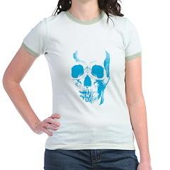 Blue Skull Face T